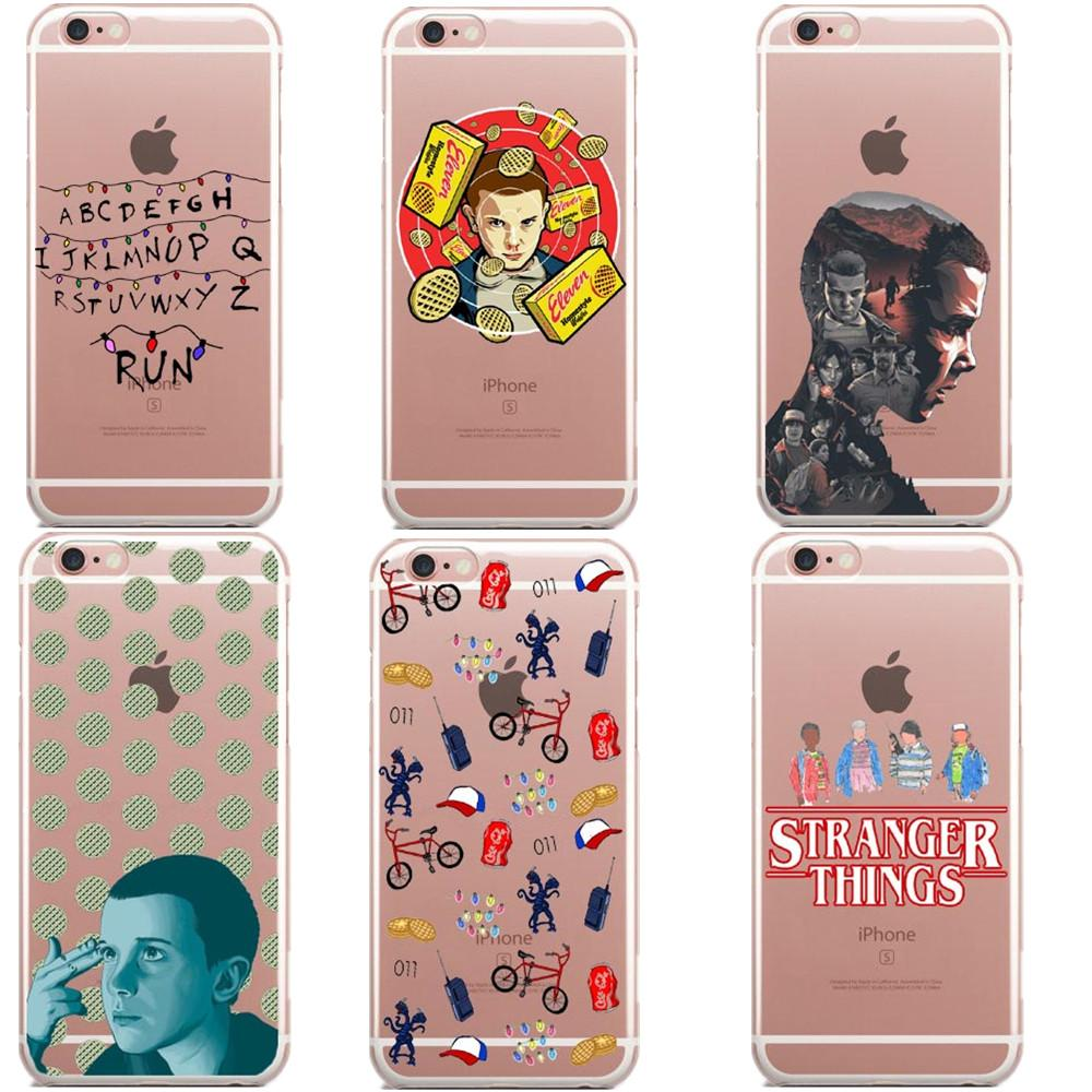 new product a7ad3 e1f1b Stranger Things Christmas Lights Clear Soft silicone TPU Phone Case For  iphone 7 7Plus 6S 6Plus 5 5S SE 8 8Plus X 10 Cover