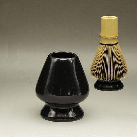 [GRANDNESS] Black Ceramic Matcha Whisk Stand Kusenaoshi Chasen Shaper Holder Reshaper Japanese Matcha Holder Matcha Tea Powder