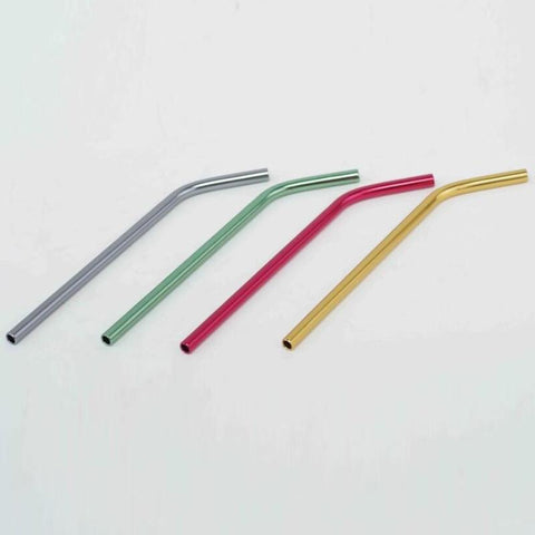 WOWSHINE new mixed color aluminum bent drinking straws10pcs/lot food grade juicy straws 8mm*215mm mixed colors-modlily