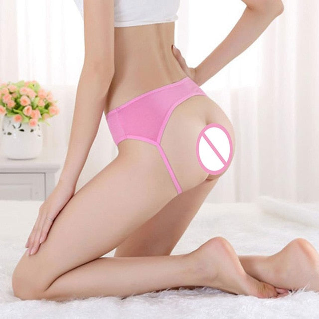 Novel Style Women Sexy Open Butt Backless Panties Thongs Lingerie Underwear Flawless Funny Sexy Women Underpants Briefs Lingerie-modlily