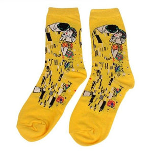 Autumn Winter Fashion Printed Socks Men Hit Color Cotton High Elastic Male Sock Wedding Gift-modlily