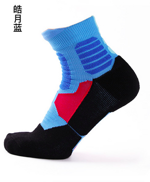 New fashion solid High quality High Elastic cotton basket ball socks big size sox Professional towel bottom knee socks men T6-modlily