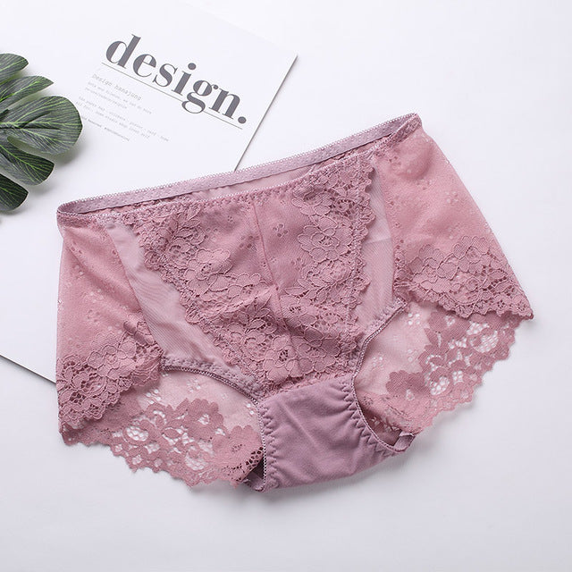 L-2XL!Free shipping!Hot sale! women's sexy lace panties seamless cotton breathable panty Hollow briefs Plus Size girl underwear-modlily
