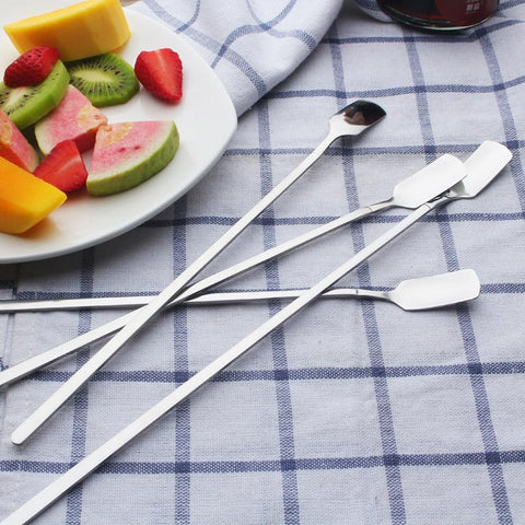 ZMHEGW 1pc Stainless Steel Ice Cream Cocktail Teaspoons Coffee Soup Tea Spoons Cocktail Spoon Kitchen Bar Tools-modlily