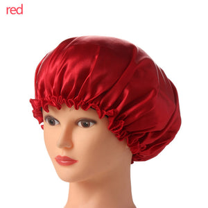 1 PC 2018 New Fahion Women Night Sleep Hat Wide Band Hair Loss Chemo Hat Comfortable Satin Bonnet Ladies Turban Caps-modlily