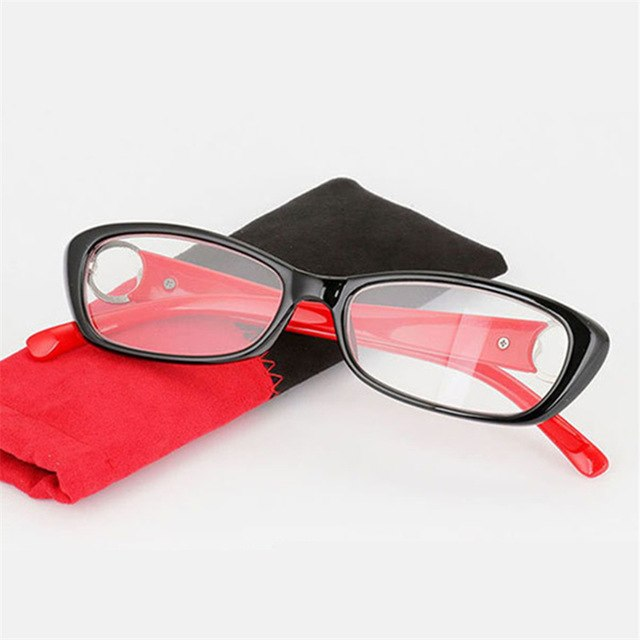 UVLAIK New Fashion Ladies Reading Glasses High-grade Plastic Presbyopic Glasses Frame Resin Lens Female Reading Cat Eye Glasses-modlily