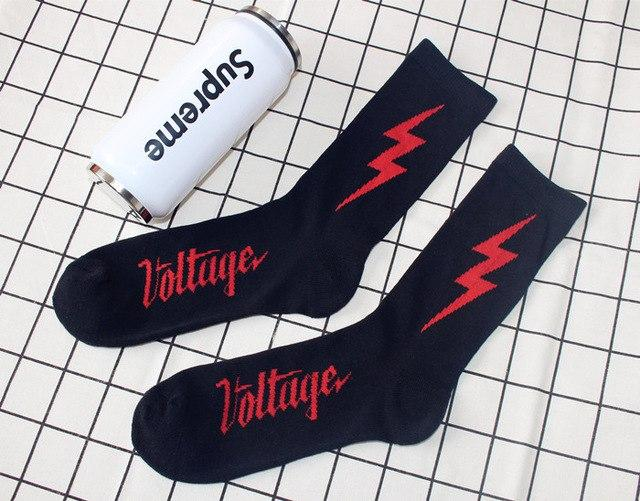 Autumn and winter new cotton flash socks personality trend Harajuku street fun warm men and women hip-hop tube socks-modlily