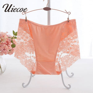 UIECOE Panties Plus Size 4XL-5XL Women Underwear Lace Panties Breathable Seamless Big Size Slimming Lingerie Briefs For Ladies-modlily