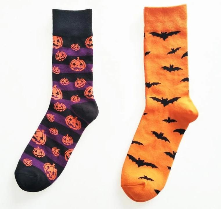 New Fashion Socks Men Male Pumpkin Print Happy Halloween Cotton Hip Hop Funny Crew Sox Harajuku Designer Calcetines Meias Winter-modlily