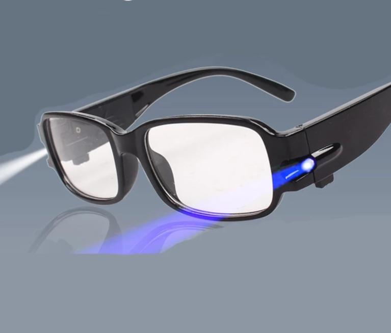LED Light Reading Glasses Clear Occhiali Da Lettura +1.00 +1.50 +2.00 +2.50 +3.00 +3.50 +4.00 Diopter Night Presbyopic Glasses-modlily
