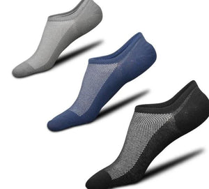 High quality men summer breathable mesh invisible non-slip boat socks cotton male fashion tide no show socks 5pairs/lot-modlily