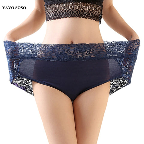 YAVO SOSO High Quality Sexy Lingeries Briefs Women Underwear plus size  6XL big size Lace high waist Women's Panties