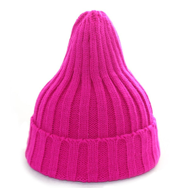 2018 Women Hat And Cap Autumn Knitted Warm Hat Solid Color Winter Hats For Women Hip-Hop Cap Girls Beanies Female Gorros Bonnet-modlily