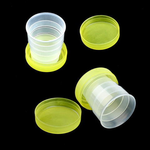 Wholesale Folding Portable Collapsible Plastic Cups Telescopic Cups Camping Hiking Drinkware-modlily