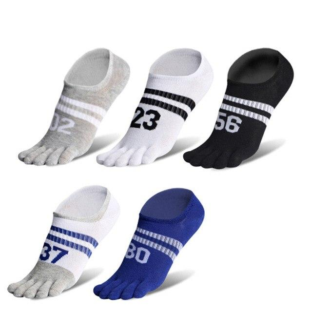 VERIDICAL 5 pairs/lot summer toe socks men cotton digital five fingers invisible sock meias masculino breathable Sock Slippers-modlily
