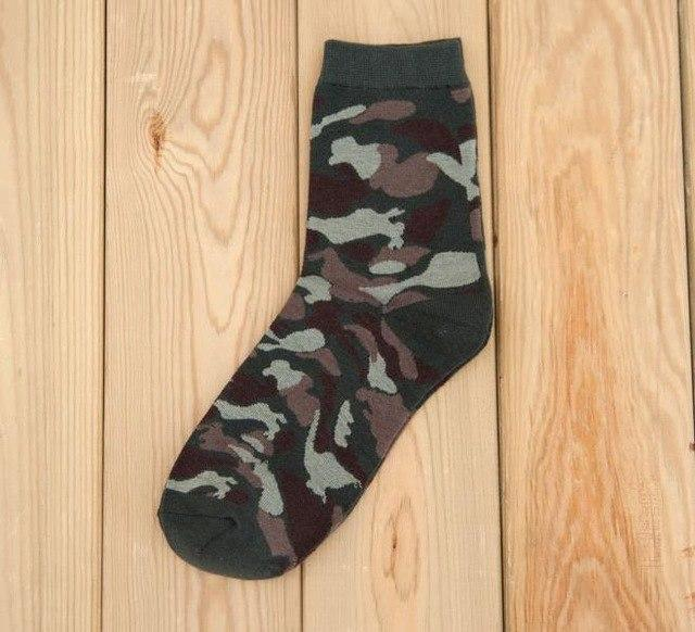 VERIDICAL 10pieces=5pairs=1lot New Military Socks Graffiti Green Mens Cotton Socks Jungle Style Winter Classic Camouflage Socks-modlily