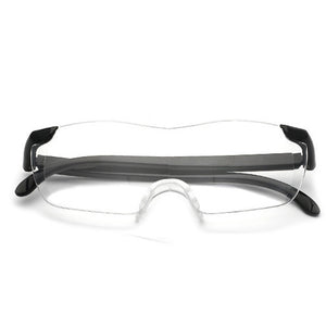 Reading Glasses Men Women Big Vision Frameless Magnifying Glass 1.6 times 250 Magnification Presbyopic Glasses Magnifier Eyewear-modlily