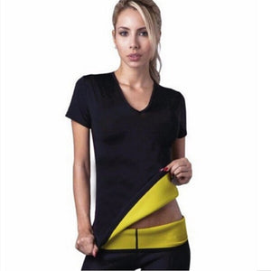 Hot Body Shapers T-shirt Hot Shapers Stretch Neoprene Slimming Vest Body Shaper Control Vest Tops-modlily