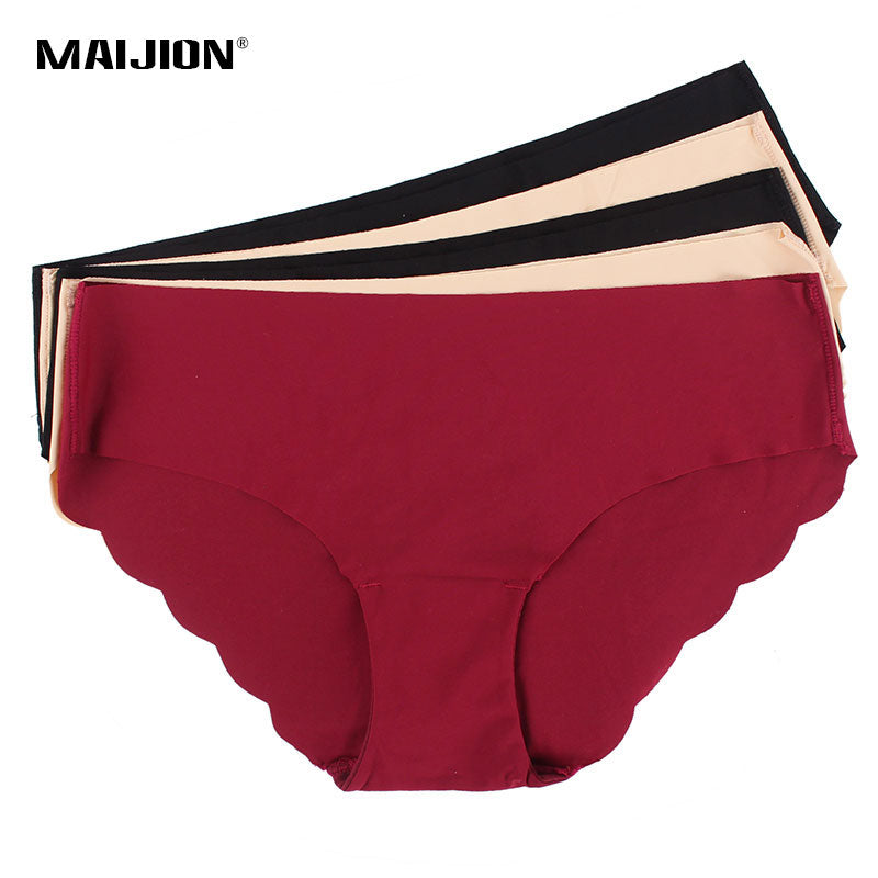 MAIJION Women's Sexy Seamless Underwear Briefs,Ultra-thin Traceless Solid Comfortable Female Panties Intimates 5Pcs/Lot-modlily