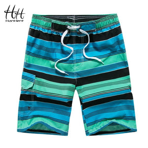 HanHent 2018 New Male Striped Shorts Hot Beach Shorts Men Printed Casual Holiday Straight Pants Fitness Summer Board Shorts-modlily