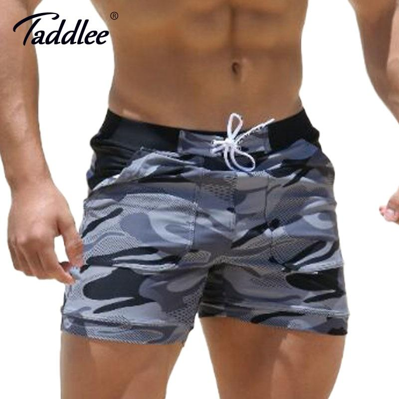 Taddlee Brand Sexy Men's Swimwear Swimsuits Man Plus Big Size XXL Spandex Beach Long Board Shorts Boxer High Rise Cut Trunks Men-modlily