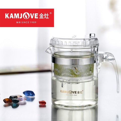 [GRANDNESS] TP-140 Kamjove Art Tea Cup * Tea Pot 300ml Kettle Elegant Cup PiaoYi Bei Teacup Glass Teapot 300ml