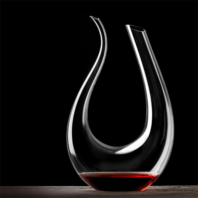 YKPUII 1500ML Big Decanter Handmade Crystal Red Wine Brandy Champagne Glasses Decanter Bottle Jug Pourer Aerator For Family Bar-modlily
