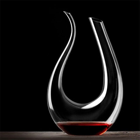 YKPUII 1500ML Big Decanter Handmade Crystal Red Wine Brandy Champagne Glasses Decanter Bottle Jug Pourer Aerator For Family Bar