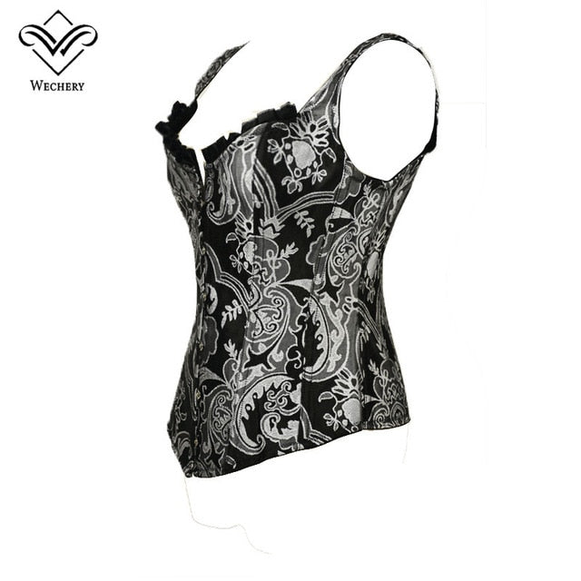 0be8c629c Wechery Corsage Steampunk Corset Sexy Waist trainer and Bustiers Slim Gothic  Women Corselet Corset WIth 11