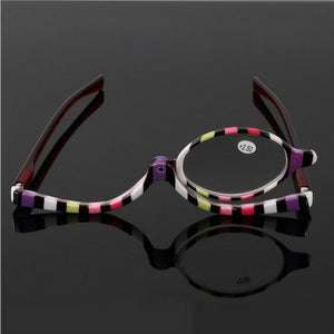 Readers Magnifying Makeup Glasses Eye Make Up Spectacles Flip Down Lens Folding Cosmetic Womens Reading Glasses-modlily
