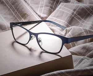 Blue Vintage Women Reading Glasses High Clear Lens Glass Full Frame Glasses Gafas de lectura de las mujeres AB003-modlily