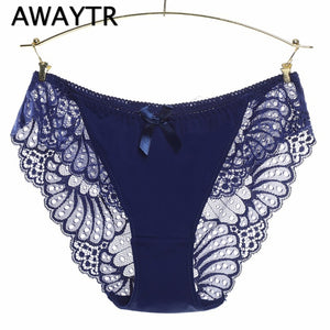 Awaytr Plus Size Hot Underwear Women Panties Briefs for Female hipster Underpant Sexy Lingerie Lace Cotton String Big XXXL-modlily