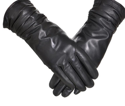 YCFUR Genuine Leather Gloves Women Winter Glove Female Sheep Leather Mittens For Women Real Sheepskin Gloves Winter Warm