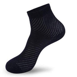 Liva Girl Hot Soft Casual Men's Socks Breatheable Bamboo Fiber Cotton Mesh Socks Man Anti-Bacterial Male Accessories Solid Color-modlily