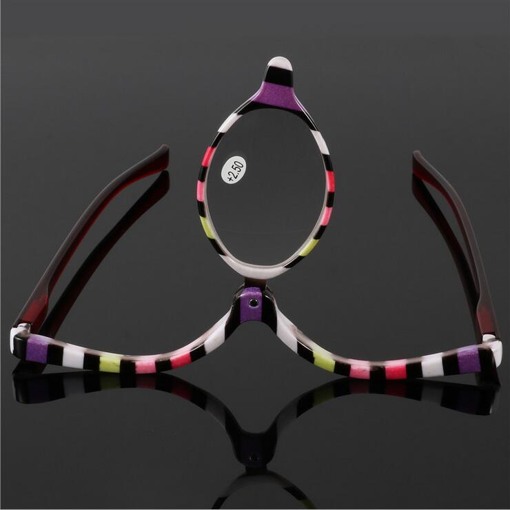 Colorful Readers Magnifying Makeup Glasses Eye Make Up Spectacles Flip Down Lens Folding Cosmetic Womens Reading Glasses-modlily