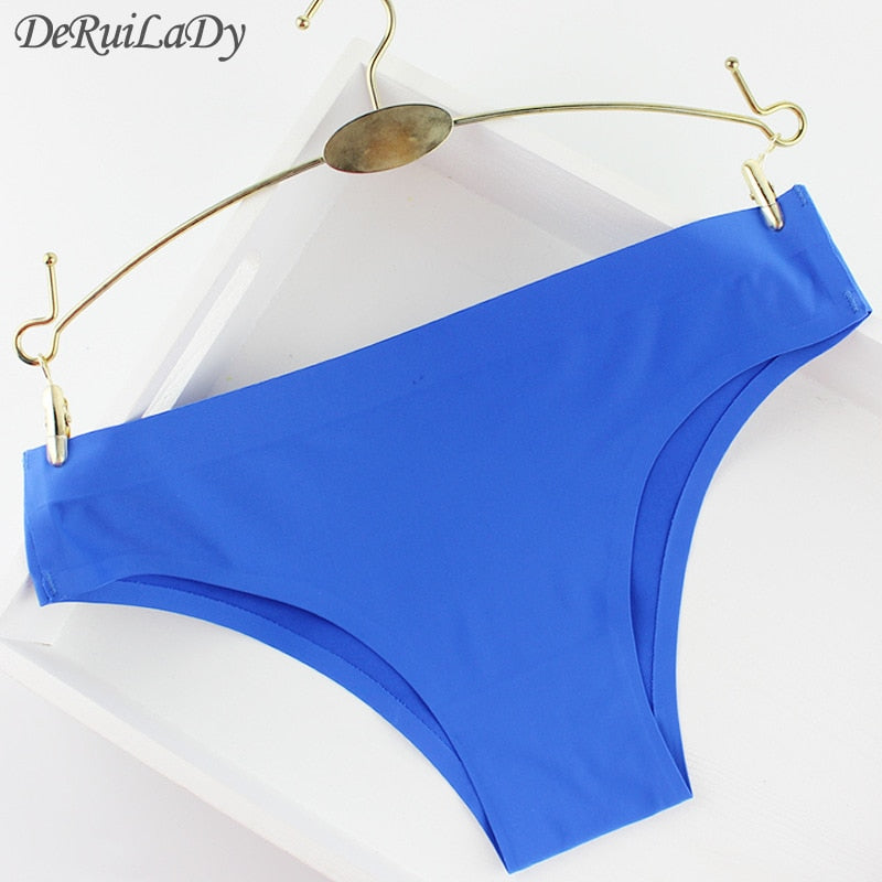 DeRuiLaDy Solid Triangle Female Briefs Nylon Women's Panties Low-Rise Sexy Ladies Girls Panties Intimates Women Seamless Panty-modlily