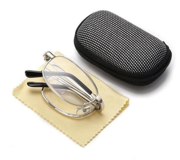 Design Reading Glasses Men Women Folding Spectacles Spectacles Frame Silver Metal Glasses +1.0 +1.5 +2.0 +2.5 +3.0 +3.5 +4.0-modlily