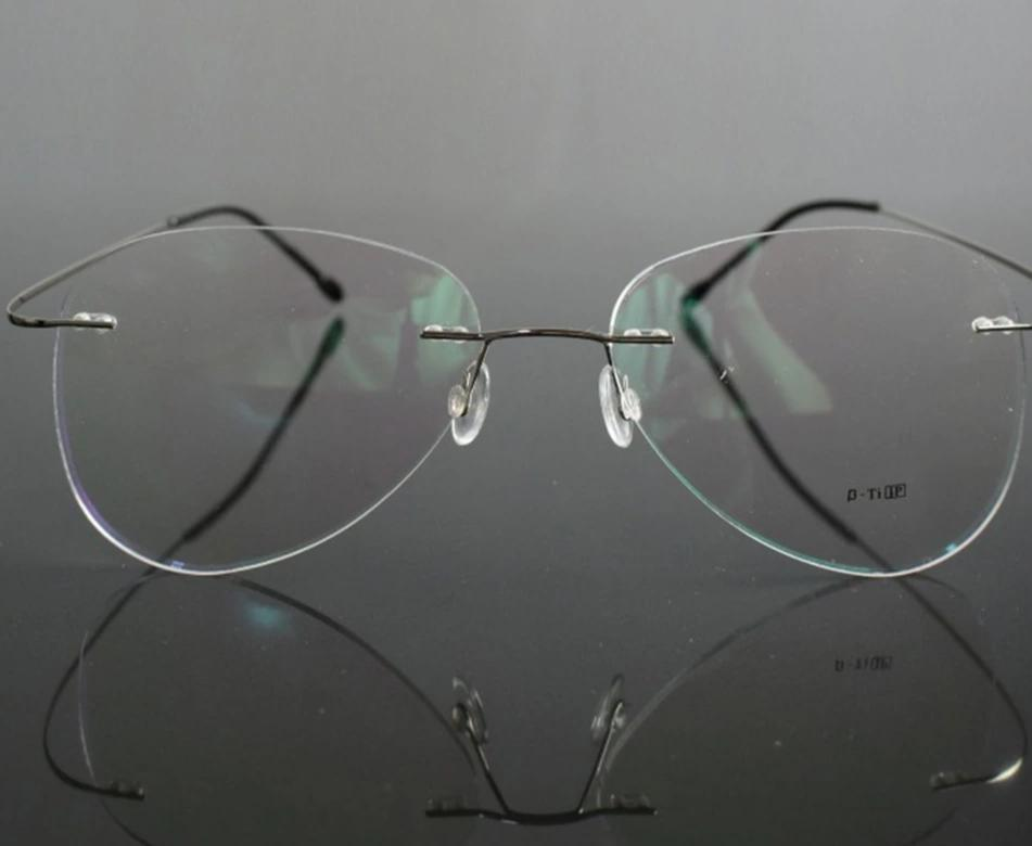SCOBER = Large Frame Pilot New B Titanium ONLY 2G Ultra-light Bomb MEN WOMEN Rimless READING GLASSES +0.75 +1 +1.25 +1.75 to +4-modlily