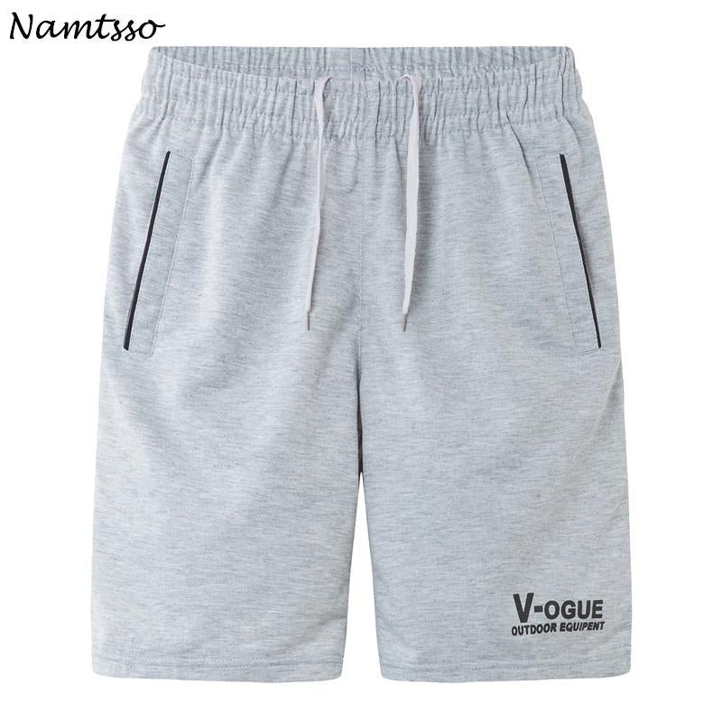 Summer men's casual fifth pants loose plus size male quick-drying Solid color beach shorts-modlily