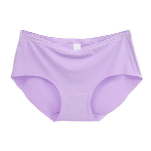 13 Colors Plus Size Women Sexy Panties Pink Seamless Lingerie Mid-Rise Push Up Underwear Multi-Colored Female Briefs Calcinha-modlily