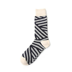 New Arrival Cotton Men Crew Socks Strip Argyle Pattern Hip Hop British Style Casual Harajuku Designer Brand Novelty Happy Sox-modlily