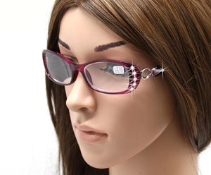 Rhinestone Reading Glasses Women Gafas de Lectura Luxury Fashion Spectacle +50 +75 100 125 150 175 200 225 250 275 375 +450 +500-modlily