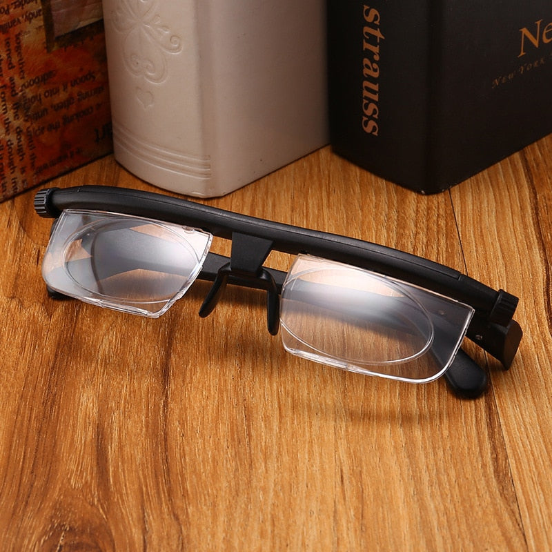 Women Men Focus Adjustable lens Reading Glasses Myopia Eyeglasses -6D to +3D Diopters Magnifying Variable Strength Magnifier-modlily