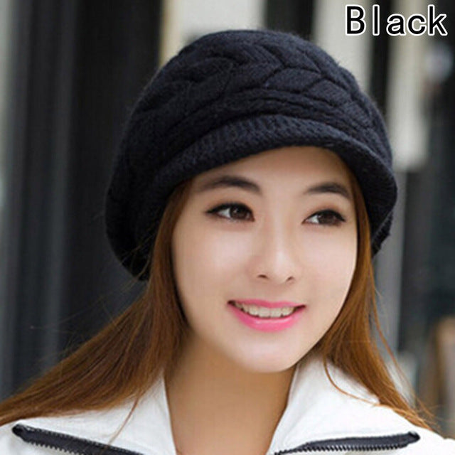 2017 Winter Beanies Knit Women's Hat Winter Hats For Women Ladies Beanie Girls Skullies Caps Rabbit Wool Warm Hat-modlily