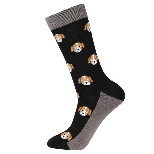 Funny Men Animal Zoo Crew Socks Novelty Penguin Snake Polar Bear Toucan Octopu Rooster Duck Kangaroo Alien Tiger Dress Socks-modlily