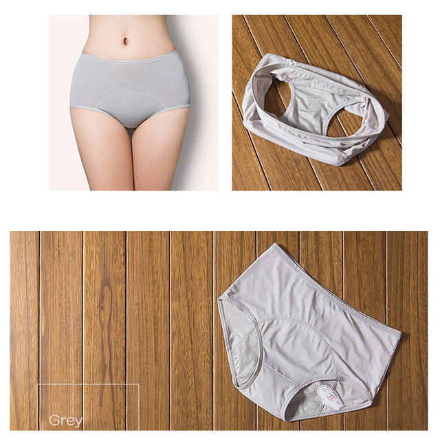 Leak Proof Menstrual Period Panties Women Underwear Physiological Pants Cotton Health Seamless Briefs High Waist Warm Female-modlily