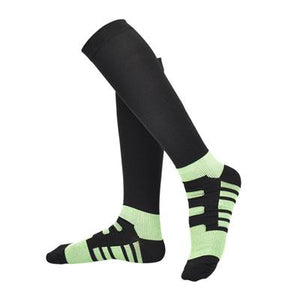 Men and women Compression Sock Deodorize Color gradient Pressure Circulation Anti-Fatigue Knee High Orthopedic Support Stocking-modlily
