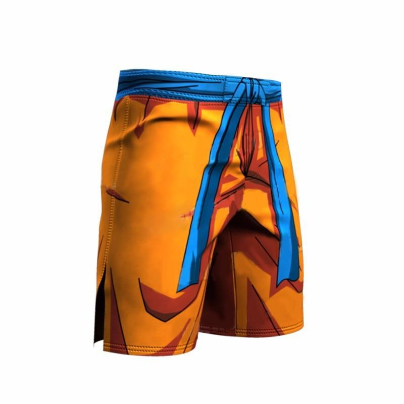 Summer men's/women's 3D beach shorts cartoon dragon ball funny printed shorts.Orange men's short trousers-modlily