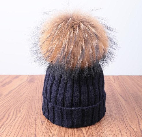 Pompoms Fur Knitted Winter Hats For Women Pom Poms Skullies Beanies Thick Winter Hats Fluffy Ball Female Beanies Caps Warm Hat-modlily