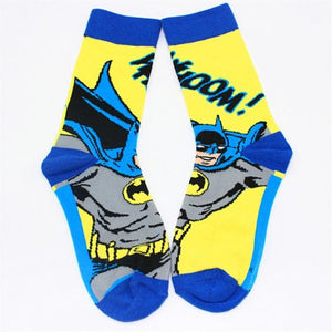 2018 European Popular style The Avengers super hero socks batman spiderman long feet socks men Brand cool skate soks-modlily